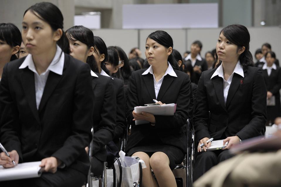 University Students Attend A Job Fair