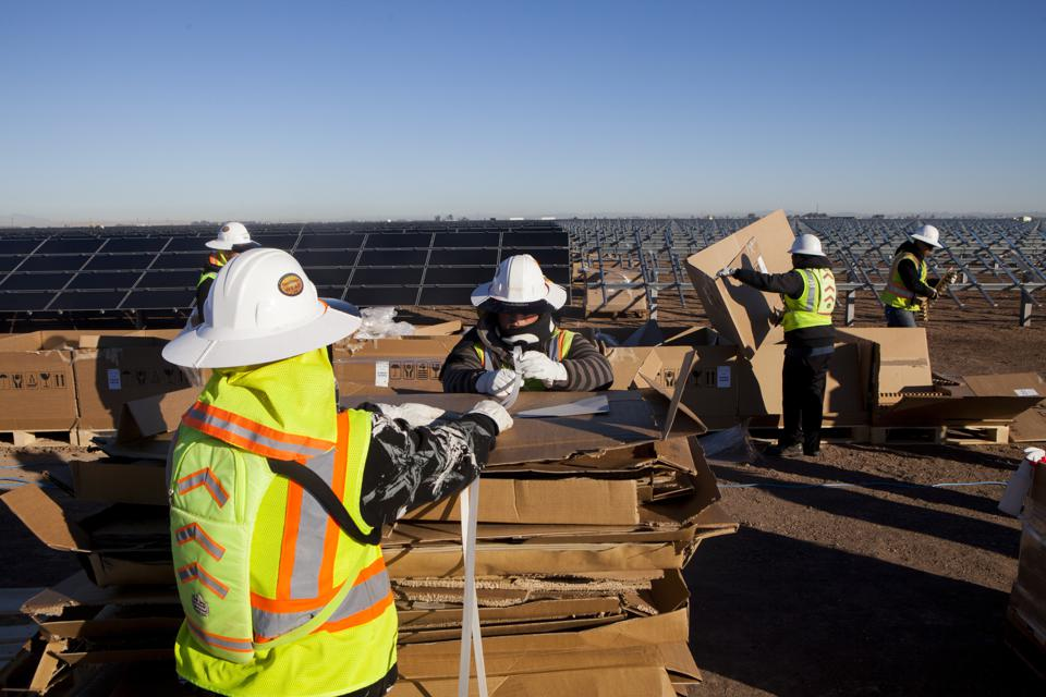 Construction At The Tenaska Imperial Solar Energy Center South Project
