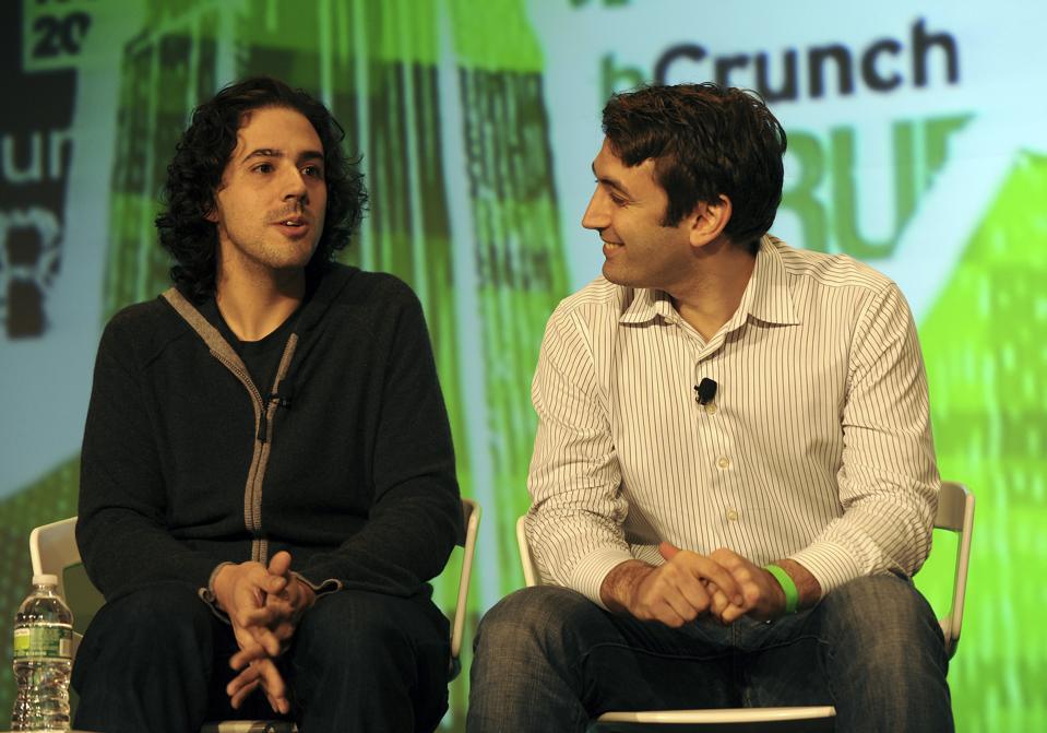 David Tisch and Jake Schwartz speak at TechCrunch Disrupt NYC in 2012.
