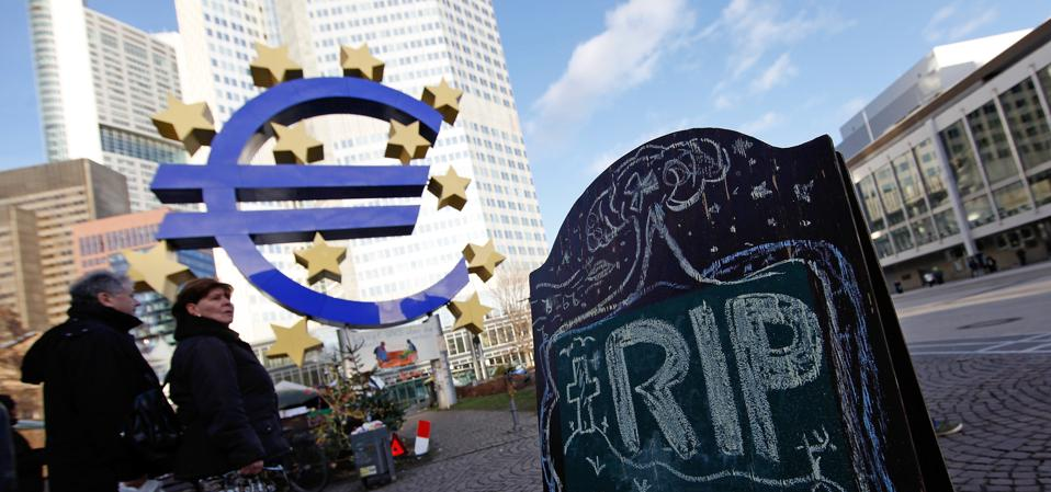 European Central Bank And Euro Sculpture