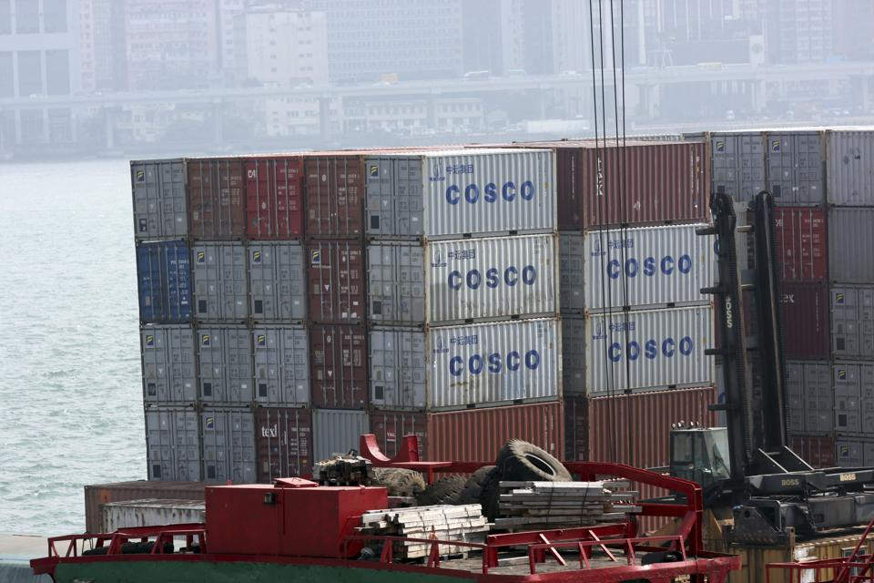Shipping Containers Loaded For Trade Figures