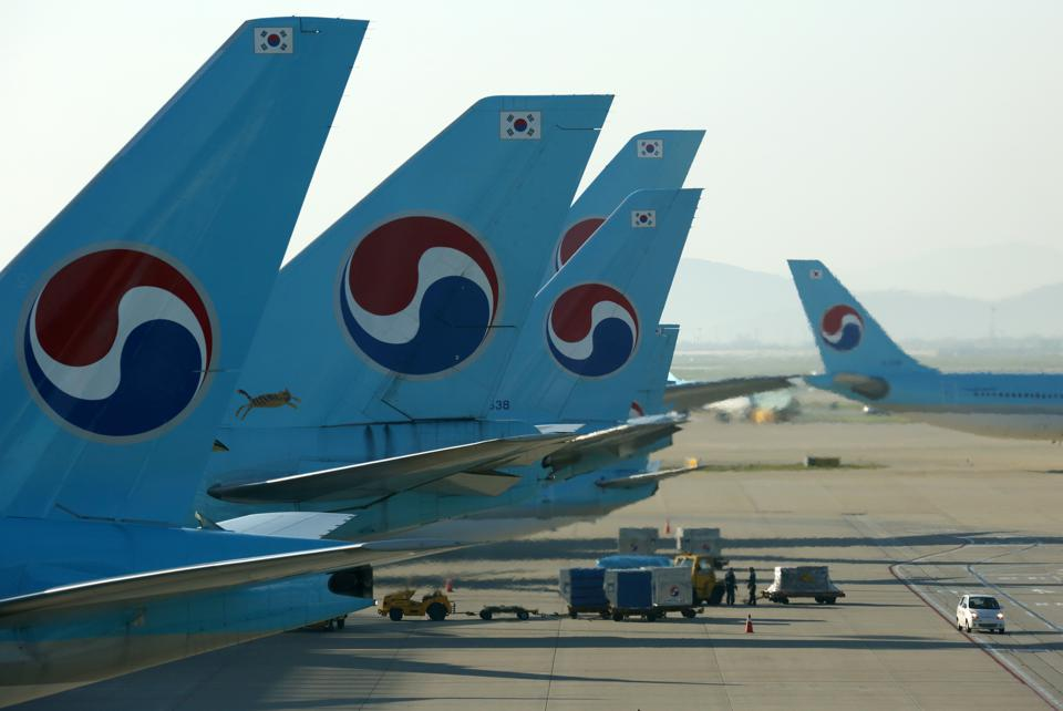Korean Air Lines Co. Aircrafts At Incheon International Airport