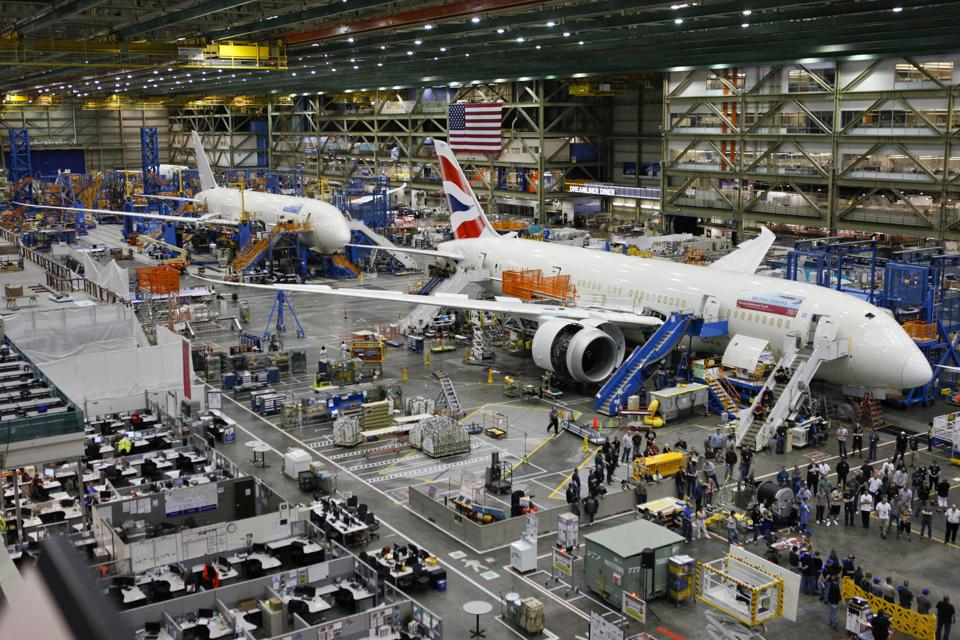 Inside the Boeing Co. 787 Assembly Plant