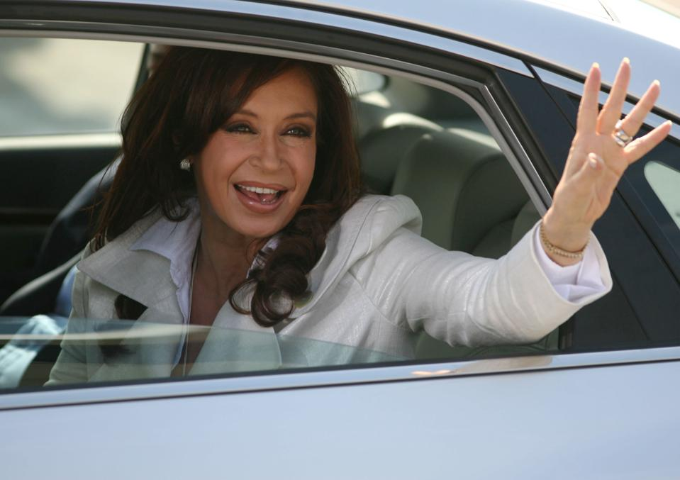 CRISTINA KIRCHNER ARRIVES IN CHILE