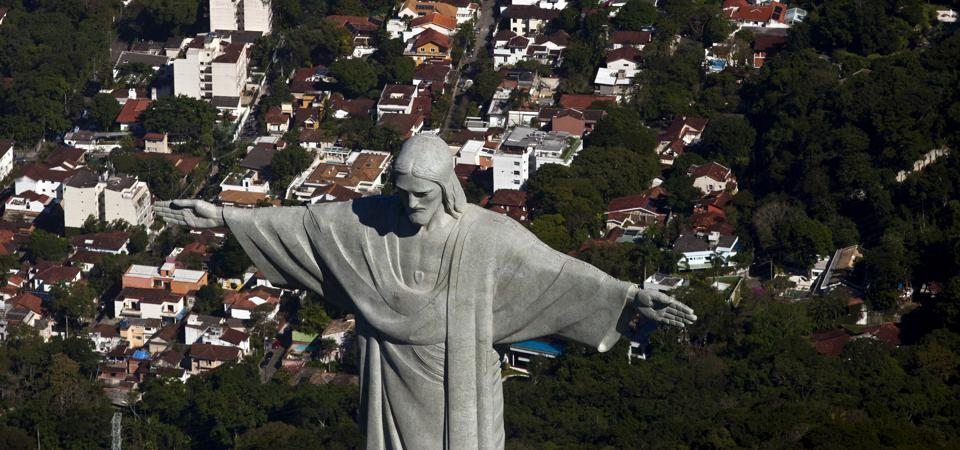 Aerial Views Of The Rio De Janeiro Skyline And Beaches As Brazil Swap Rates Drop After Inflation Report