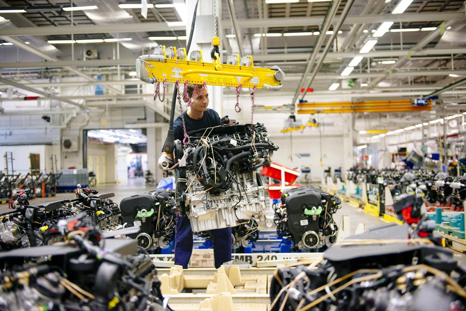 Automobile Production Inside Volvo Cars Plant