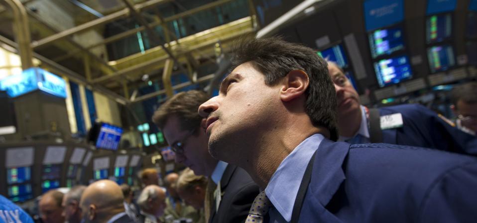 Trader on floor