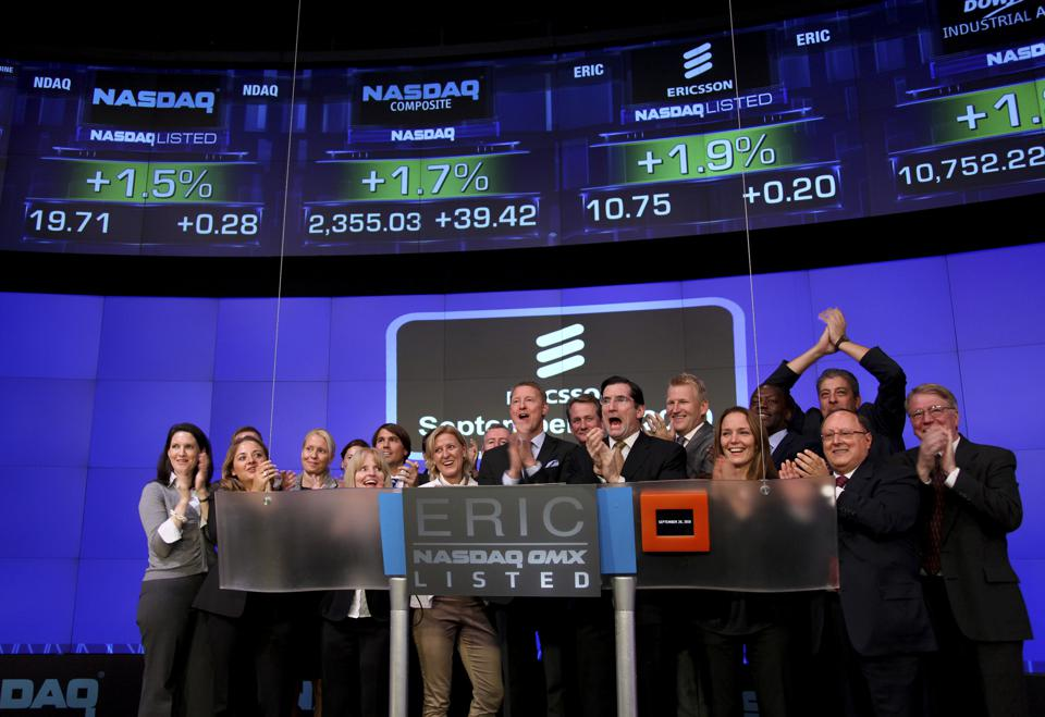 Ericsson President And CEO Hans Vestberg Rings NASDAQ Closing Bel