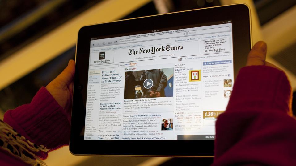 Le New York Times a demandé de facturer moins de 20 $ par mois pour l'accès au Web