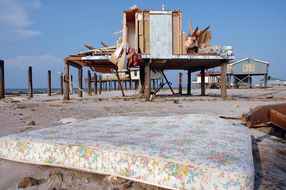 Hurricane Katrina damage on Dauphin Island