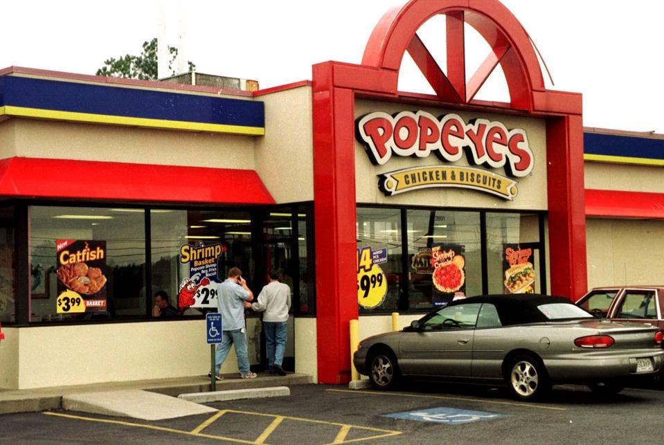 Popeyes Louisiana Kitchen Logo Vector popeyes louisiana kitchen on the forbes america's best small