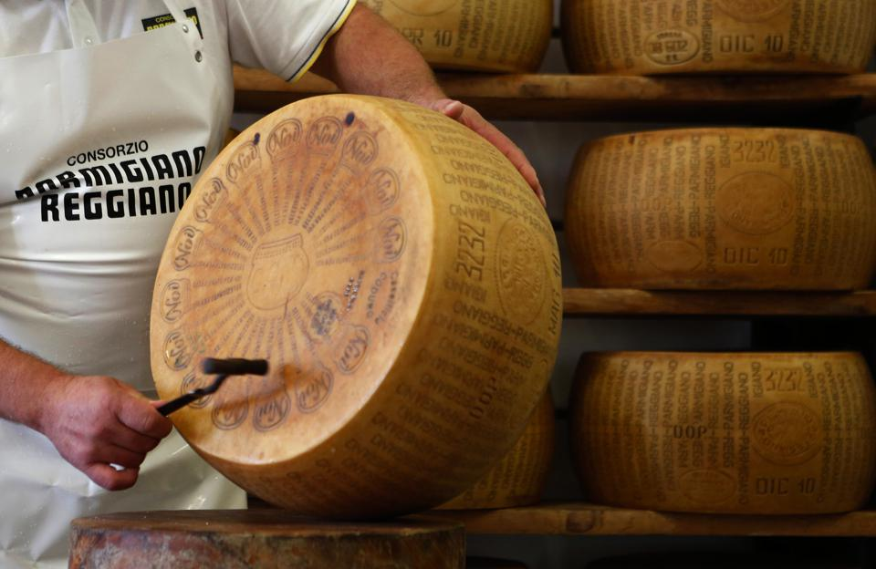 Parmesan Cheese Manufacture As Russia Bans Foods On Sanctions
