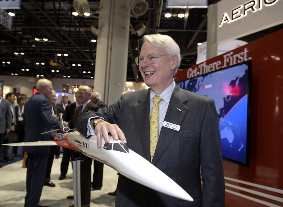Bass models the supersonic Aerion prototype.