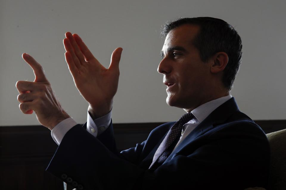 Los Angeles Mayor Eric Garcetti Interview
