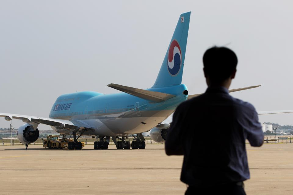 Tour Of Korean Air Lines Co. New Boeing 747-8 Ahead Of First Flight