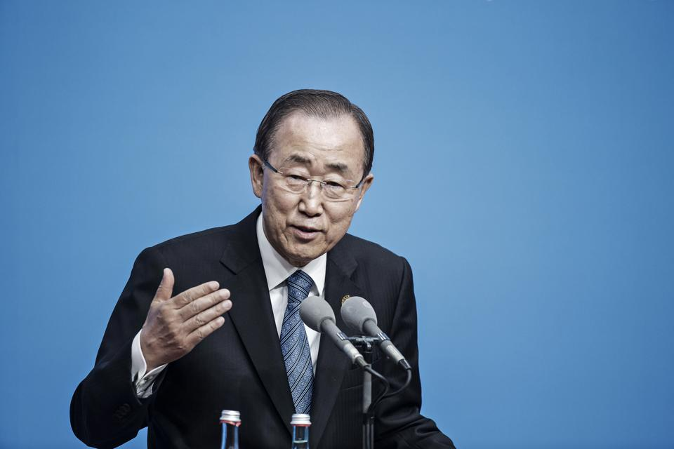 Ban Ki-Moon, former secretary general of the United Nations. Photographer: Qilai Shen/Bloomberg