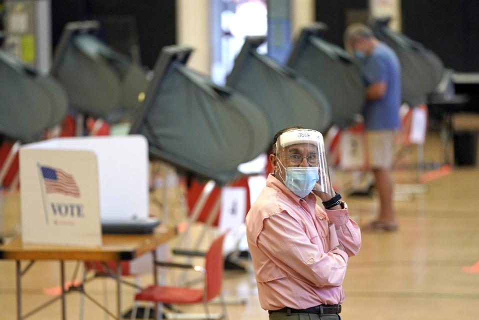 APTOPIX Virus Outbreak Texas Election