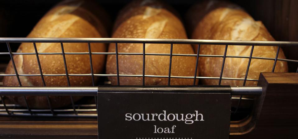 Panera's new grocery line will deliver staples like bread within 40 minutes.