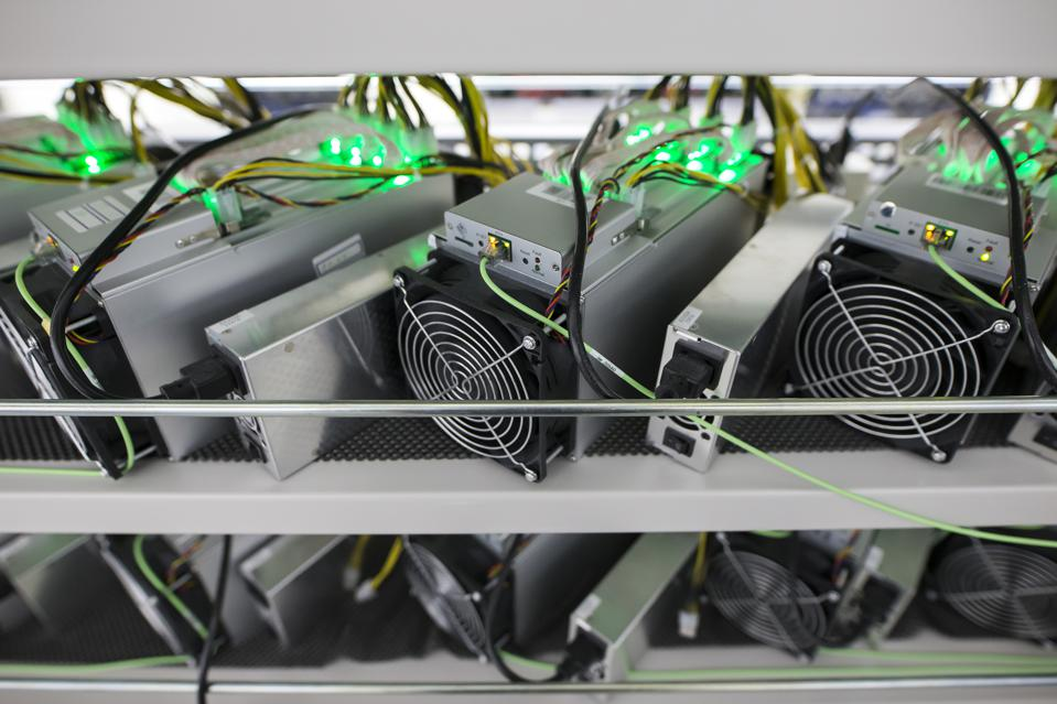 A mining rig, used to mine a popular consensus algorithm, Proof of Work, used in many public networks.