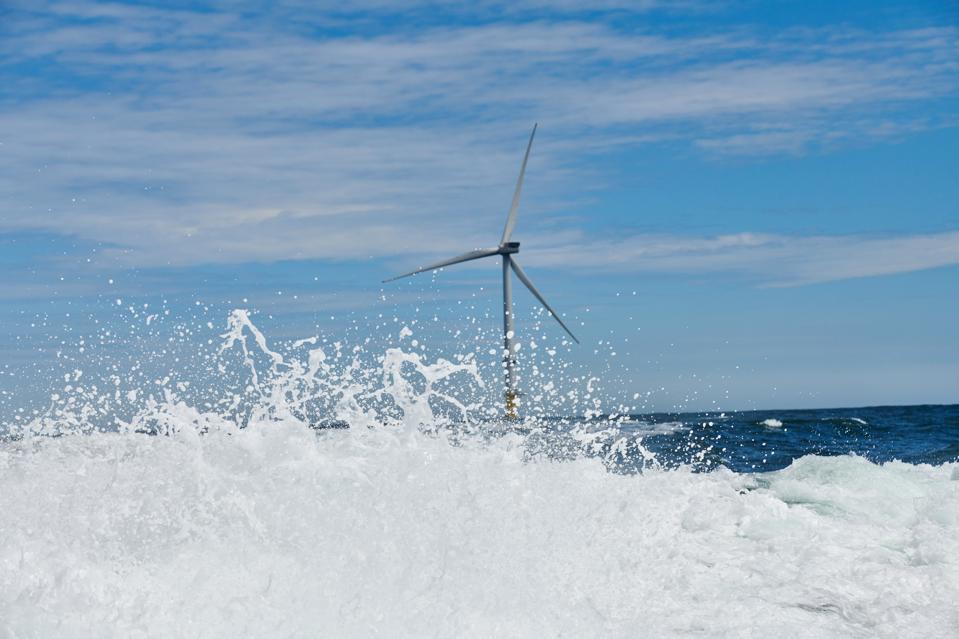 Wind turbines off the Northumberland coast in Blyth, U.K., on Friday, June 22, 2018.