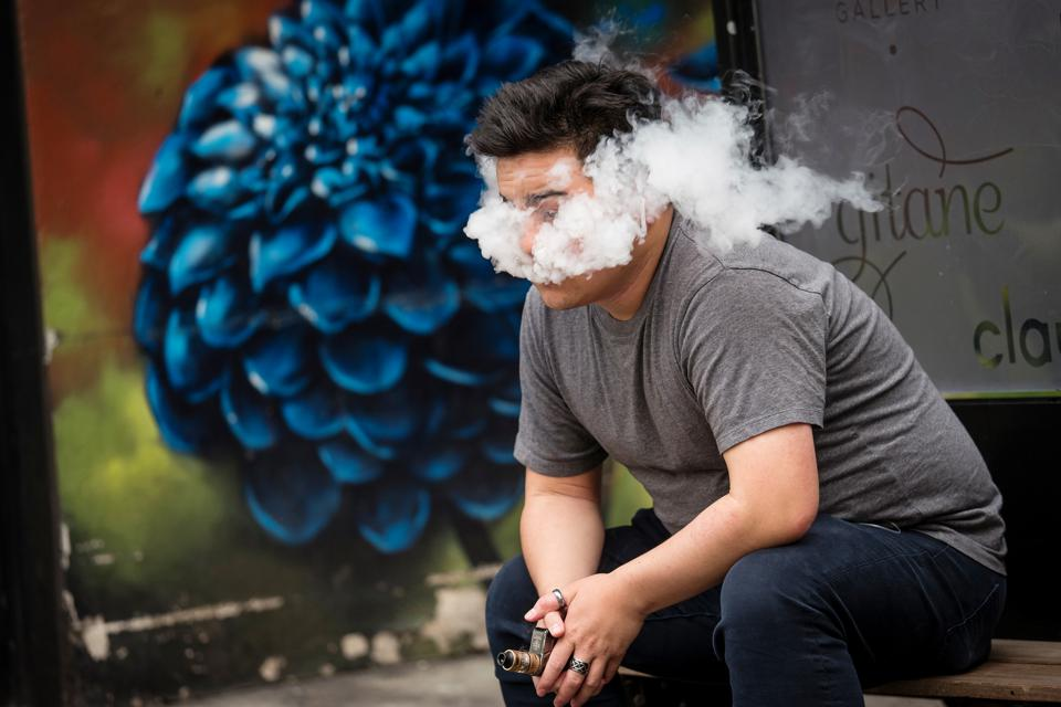 """The man's death was suspected as """"a severe pulmonary injury associated with vaping."""""""