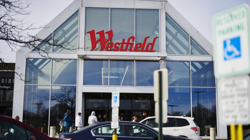 The entrance of Westfield Garden State Plaza mall in Paramus, N.J.