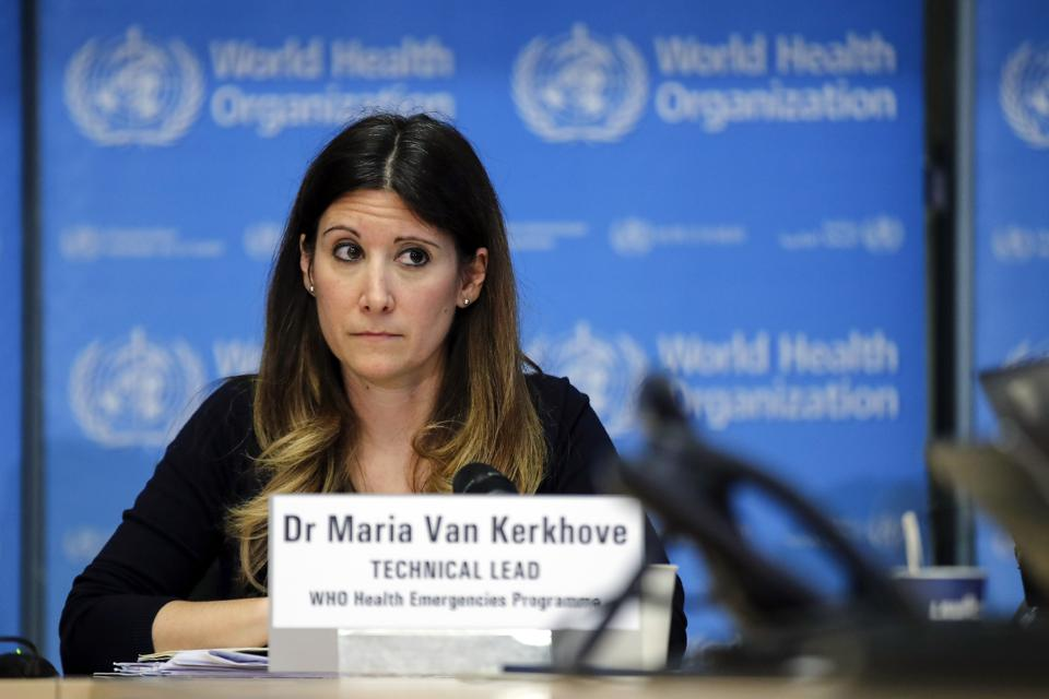 Maria Van Kerkhove, technical lead of the WHO health emergencies programme.