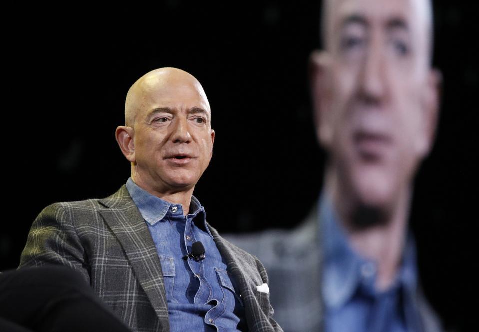 Amazon CEO Jeff Bezos. (AP Photo/John Locher)
