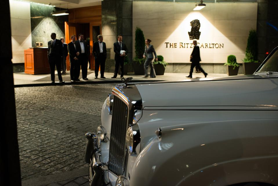 WASHINGTON, DC - NOVEMBER 14:  A 1957 Bently is pictured in the