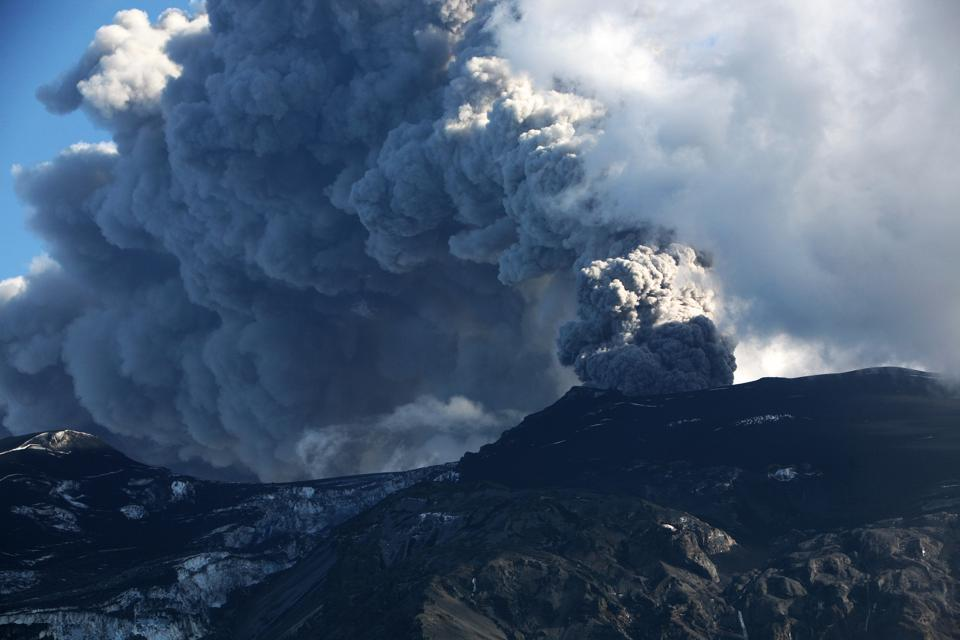 Eruption Of Eyjafjallajokull Volcano In Iceland