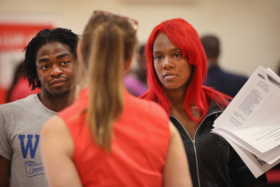 Job Seekers Attend Career Fair