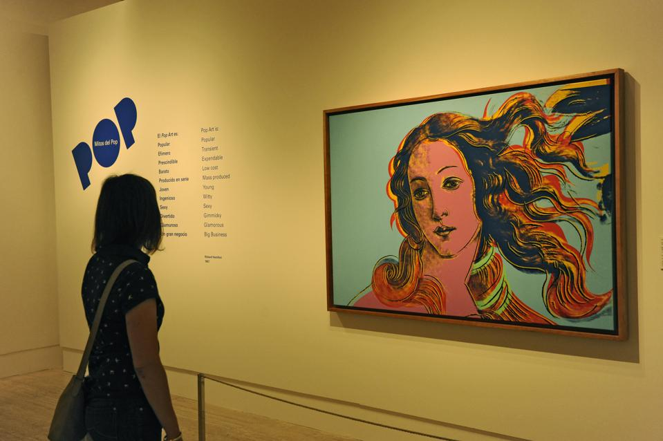 'Iconos del Pop' Painting Exhibition Opening at Thyssen Museum