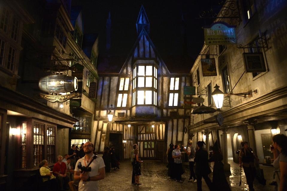 Diagon Alley looks like it has come from the pages of Charles Dickens (Gustavo Caballero/Getty Images)