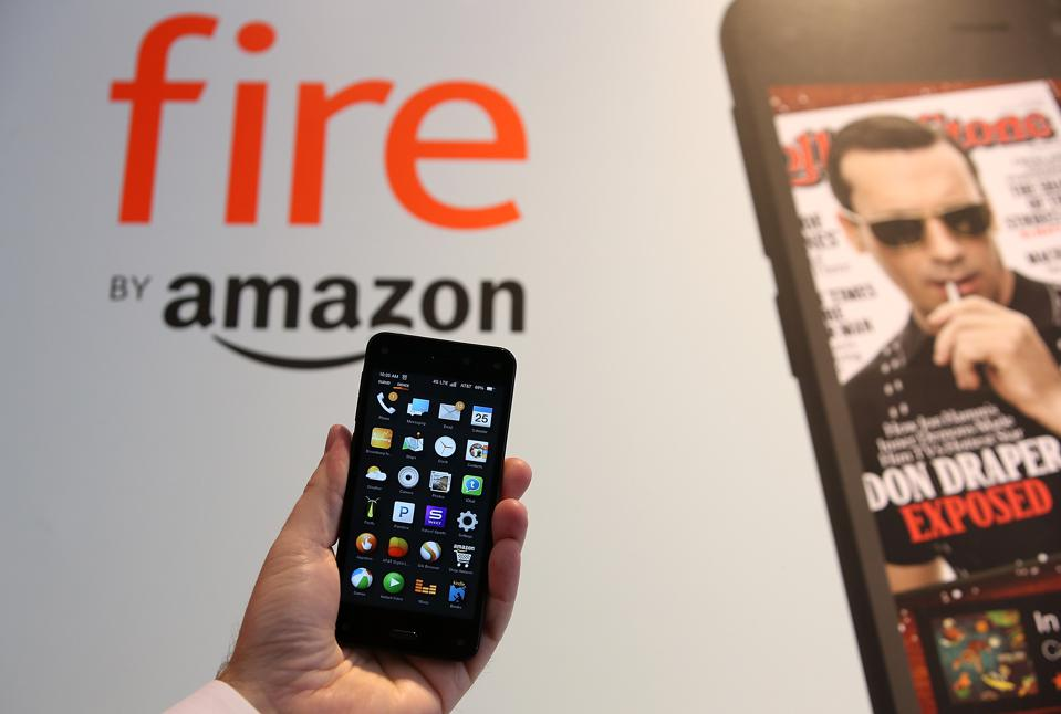 Amazon's Fire phone features a year of Amazon Prime, Dynamic Perspective 3D imaging and Firefly image recognition that allows users to scan objects and purchase the item from Amazon's online shopping site.
