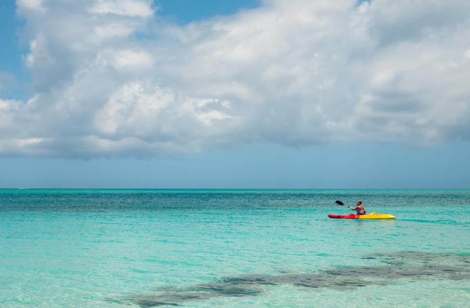 Kayaking on Grace Bay in Turks & Caicos