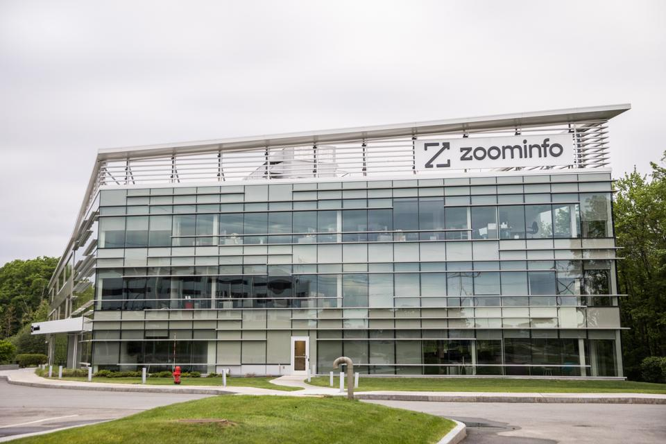 Zoominfo headquarters ahead of its IPO.