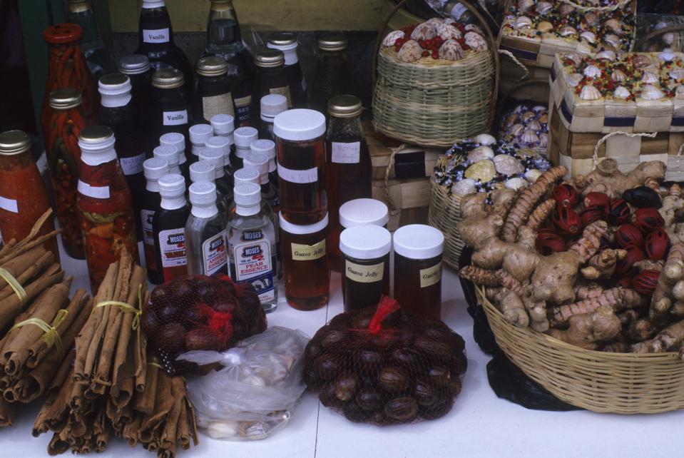 Grenada, Local Spices Including Ginger & Nutmeg...
