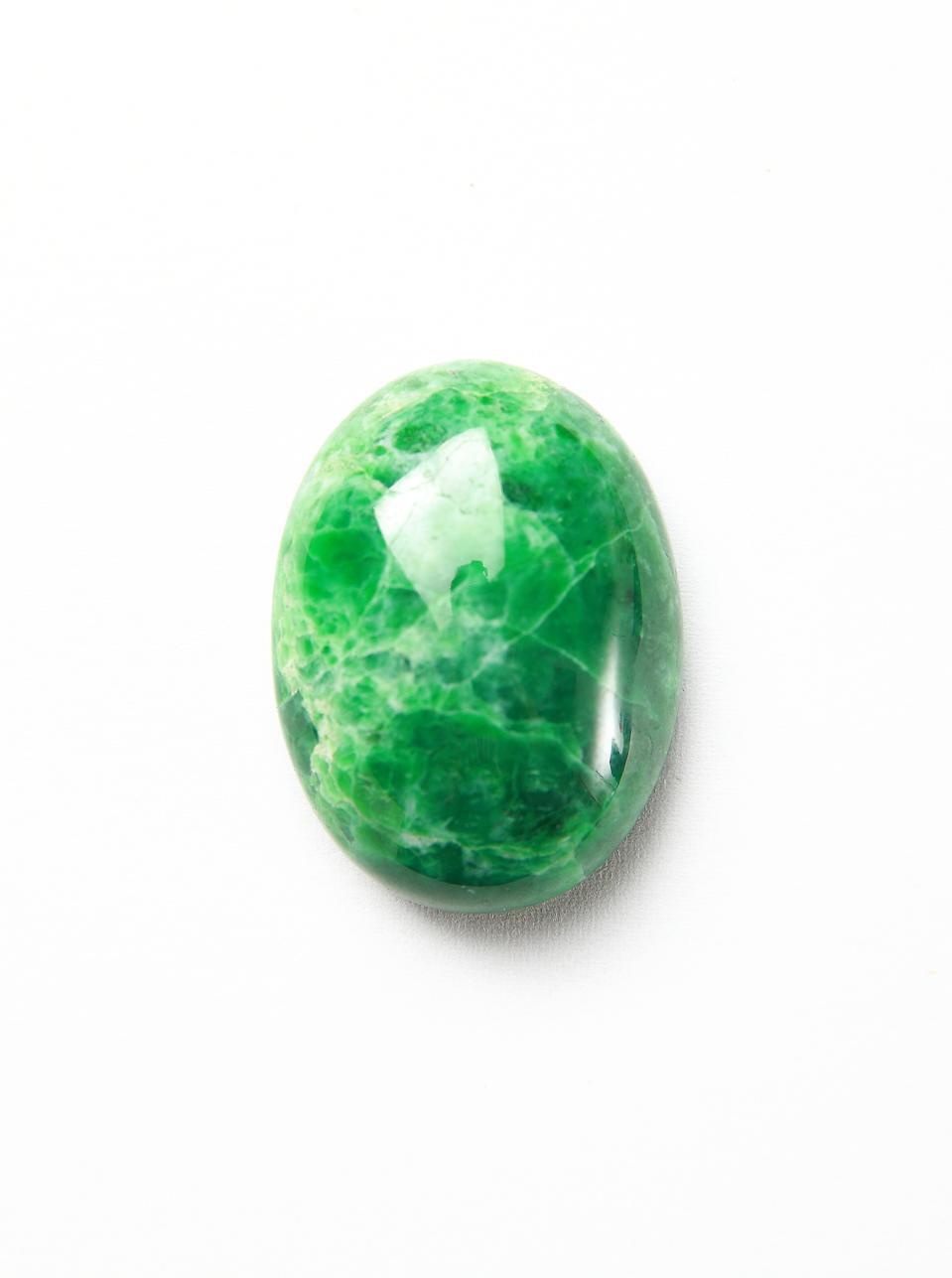 mineral jadeite on a white background