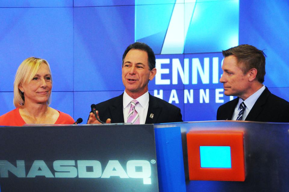 The Tennis Channel Rings The NASDAQ Opening Bell