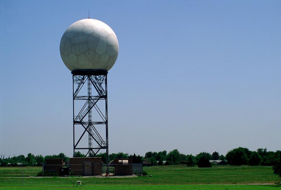 Doppler radar dome, Amarillo, Texas