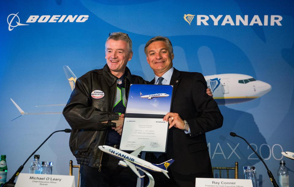 Ryanair Announces Large Order Of Boeing Planes