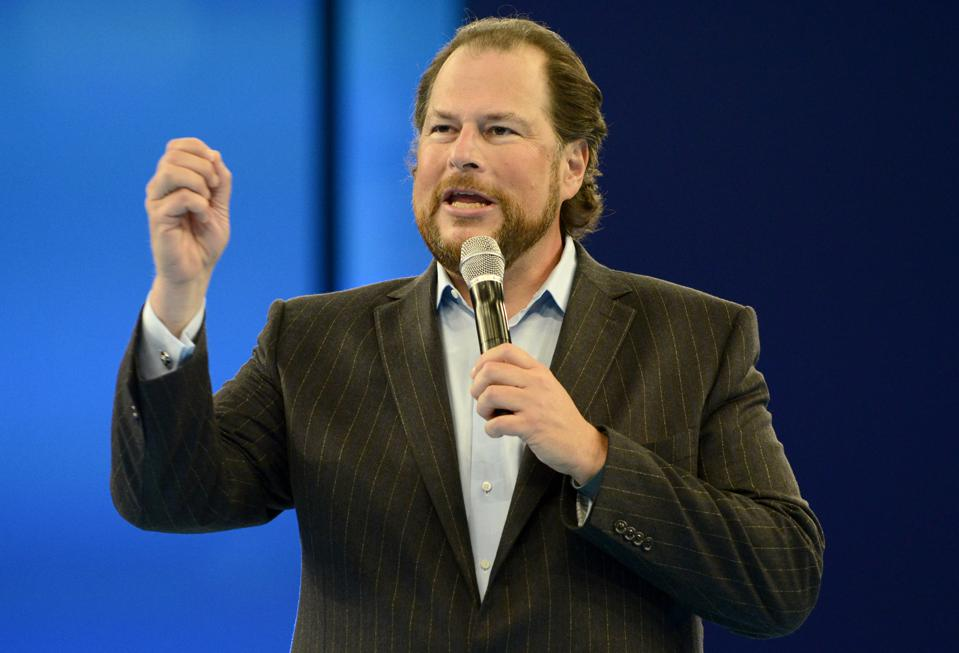 Marc Benioff, the cofounder of Salesforce, will not be involved in day-to-day operations for the magazine, which will maintain its executive leadership.