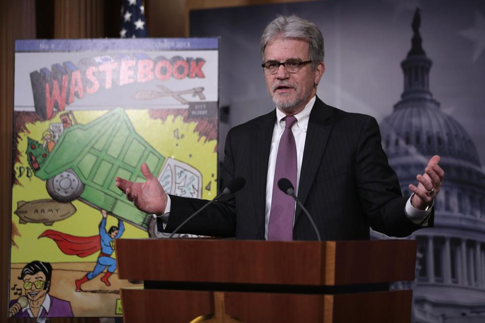 Sen. Tom Coburn Holds News Conference On Wasteful Government Spending In 2013