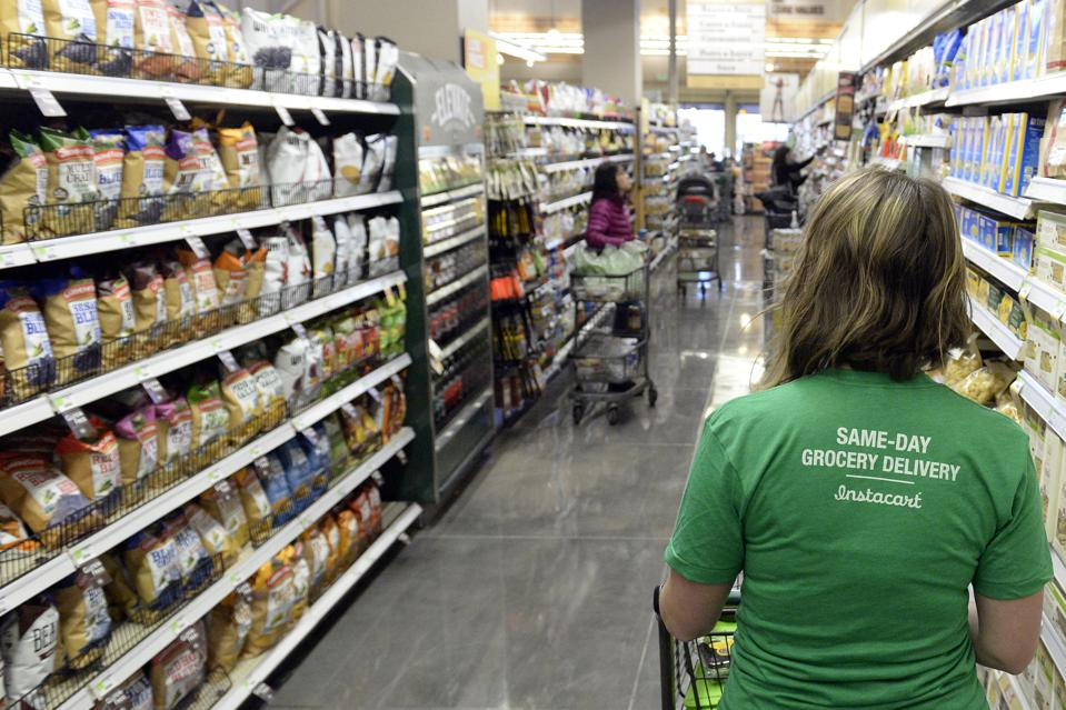 A shopper for Instacart. Denver Post Photo by Cyrus McCrimmon
