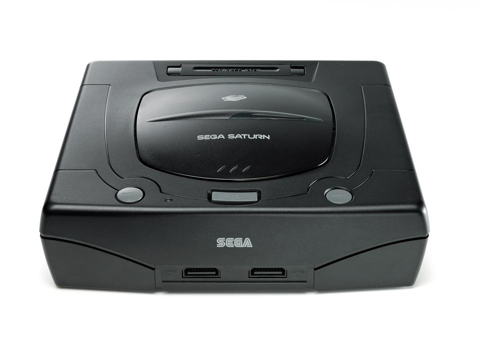 Vintage Game Console Shoot Sega Saturn