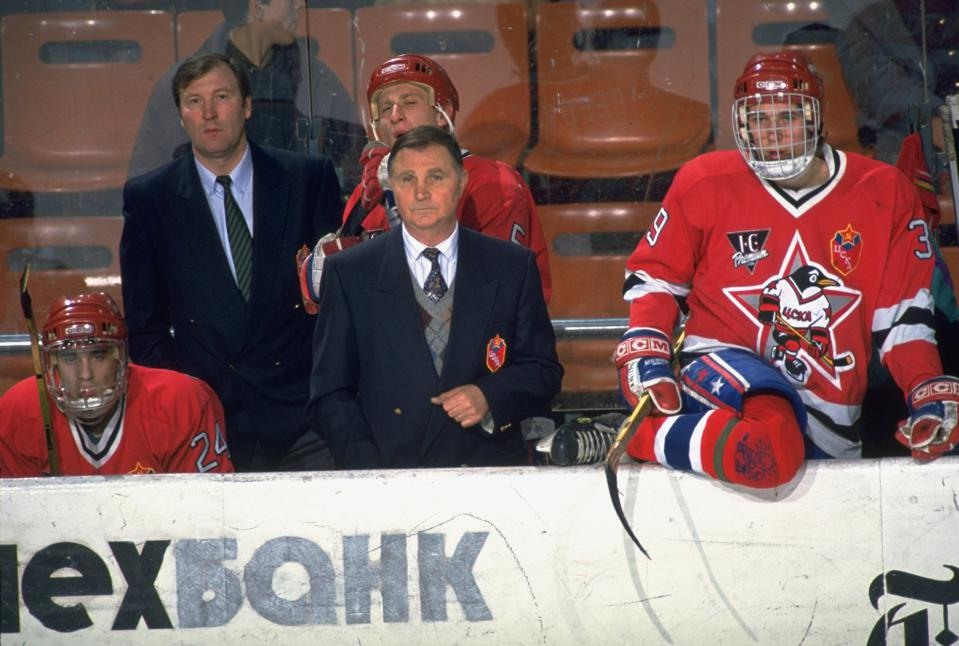 Russian Penguins Coach Viktor Tikhonov