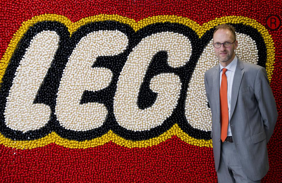 Chief Executive Officer of Lego, Joergen Vig Knudstorp. (Photo credit JUSTIN TALLIS/AFP/Getty Images)