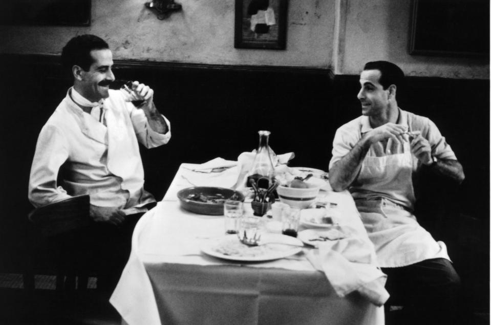 Tony Shalhoub and Stanley Tucci in ″Big Night″