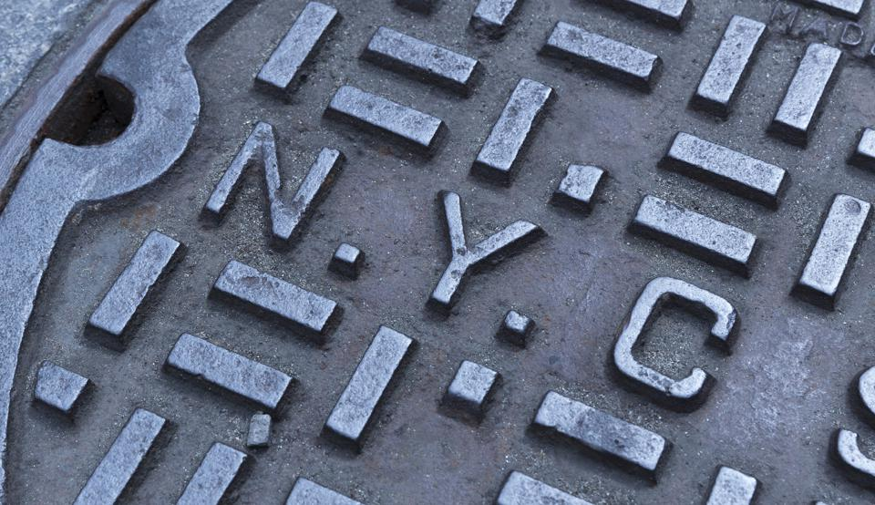 New York City Sewer Manhole Cover NYC USA