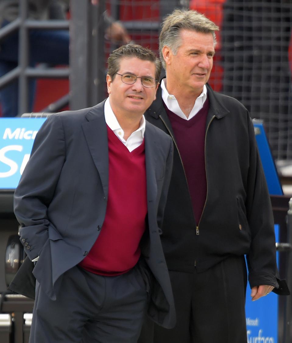 Redskins majority owner Dan Snyder and Team President Bruce Allen.